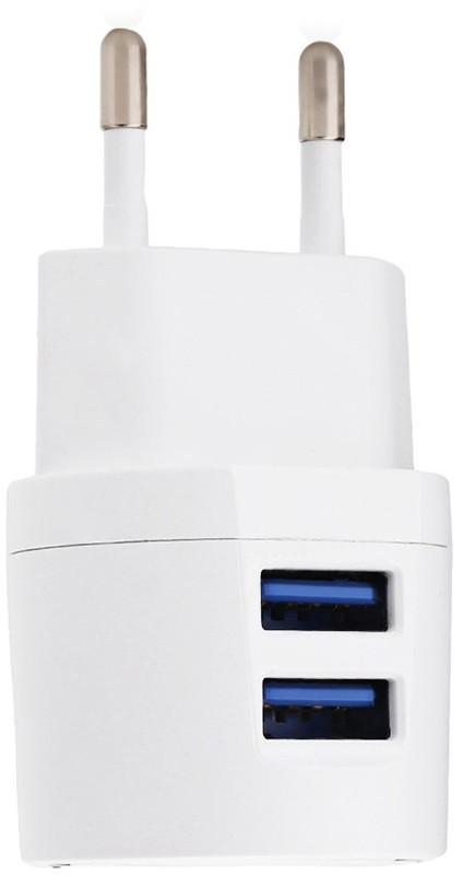 Купить Зарядные устройства, AWEI C-900 Travel charger + Micro cable 2USB 2.1A White