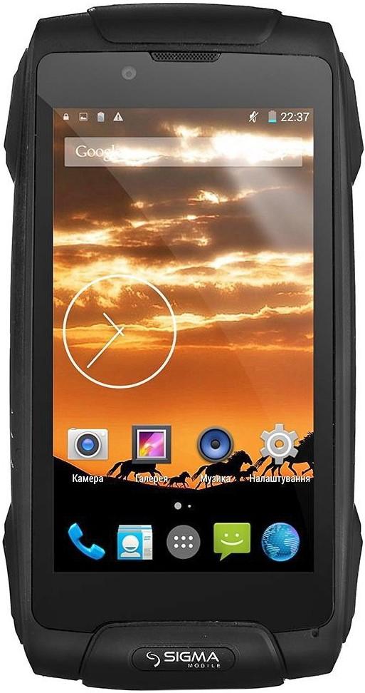 Смартфон Sigma mobile X-treme PQ25 Black - Фото 1