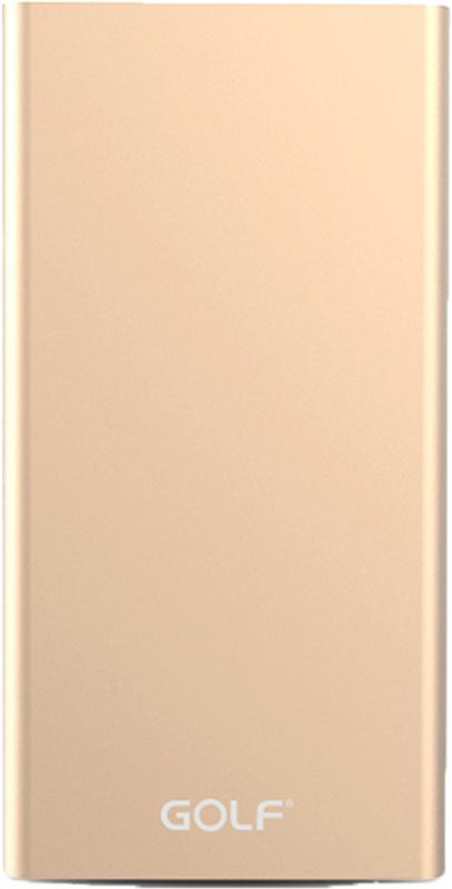 Портативная батарея GOLF Power Bank 15000 mAh Edge 15 Li-pol Gold - Фото 1