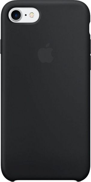 Apple Silicone Case iPhone 7/8 Black - фото