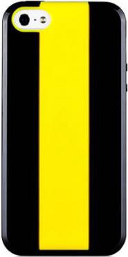 Купить Чехлы для телефонов, Momax iCase для Apple iPhone 5 Black+Yellow