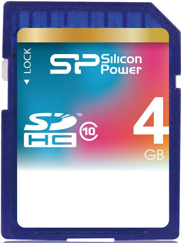 Карта памяти Silicon Power SDHC 4Gb class 10 - Фото 1