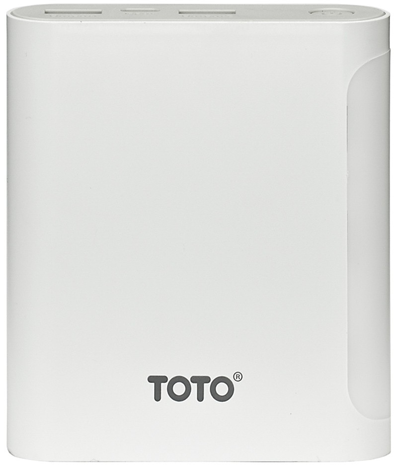 Портативная батарея TOTO TBG-47 Power Bank 10000 mAh 2USB 3,1A Li-Ion White - Фото 1