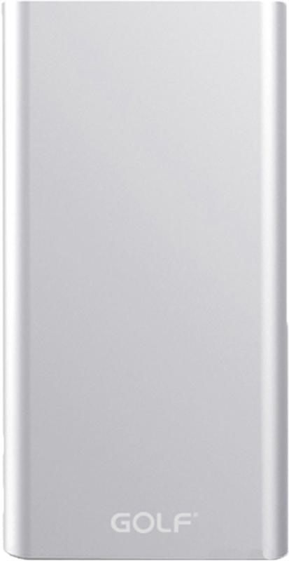 Портативная батарея GOLF Power Bank 15000 mAh Edge 15 Li-pol Silver - Фото 1