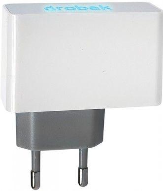 Сетевое зарядное устройстройство Drobak Power Dual USB 220V сетевое White/Grey - Фото 1