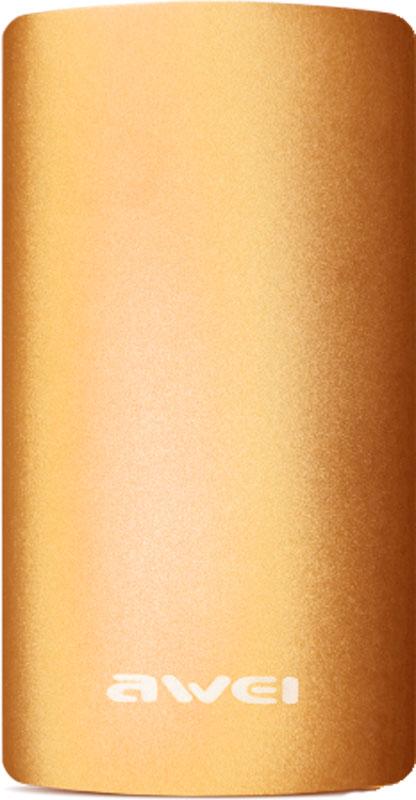 Портативная батарея AWEI P82K Power Bank 8000mAh Li-Polimer Gold - Фото 1