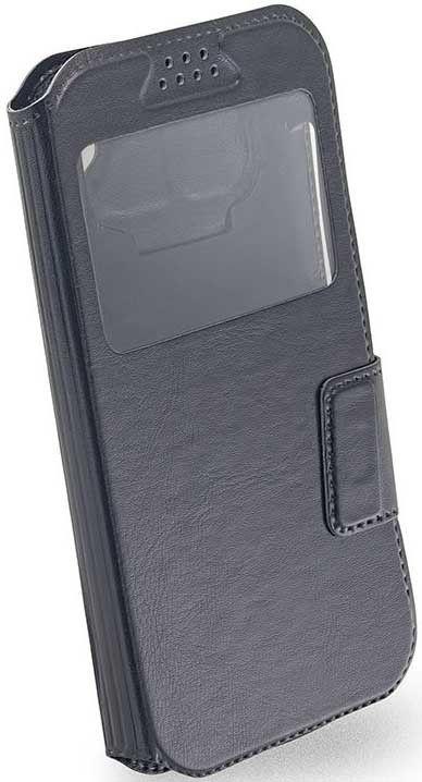 "Чехол-книжка Mobiking Universal Book Cover Soft Touch Slider 5.5"" Black - Фото 1"