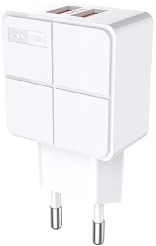 Купить Зарядные устройства, AWEI C-500 Travel charger 2USB 2.4A White
