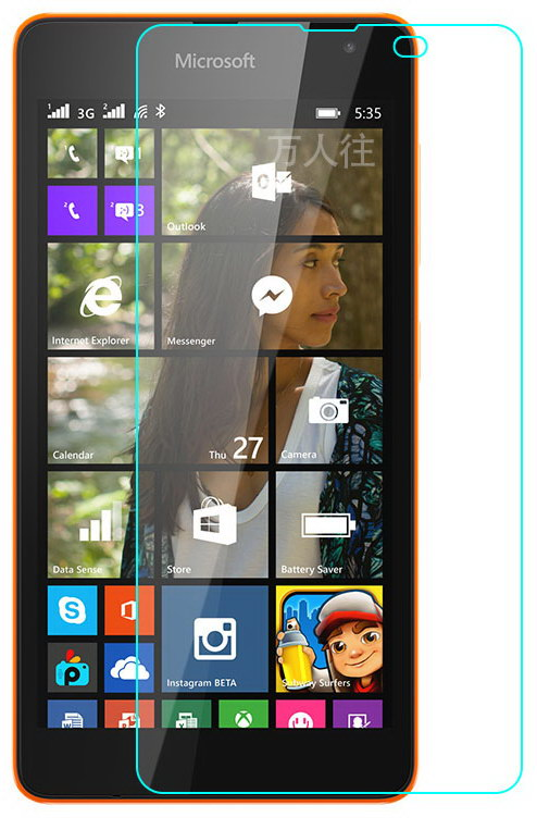 TOTO Hardness Tempered Glass 0.33mm 2.5D 9H Microsoft Lumia 535 DS