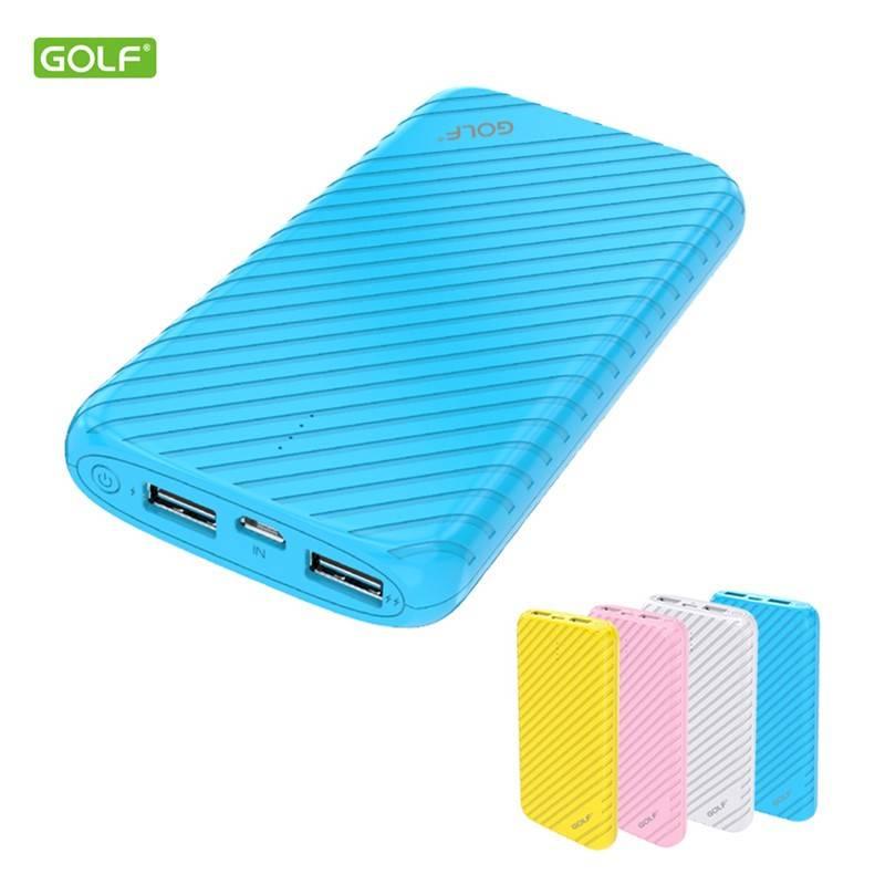 купить портативную батарею GOLF Power Bank 16000 mAh G20 3.1A Li-pol white цены, скидки, распродажи в интернет-магазине fishki.ua