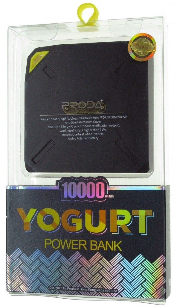 Купить портативную батарею Remax Power Bank Yogurt PPP-6 10000 mAh Blue цены, скидки, распродажи в интернет-магазине fishki.ua