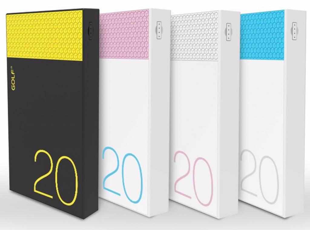 купить портативную батарею Golf PowerBank 5000mAh Hive5 2.1A Li-POL white цены, скидки, распродажи в интернет-магазине fishki.ua