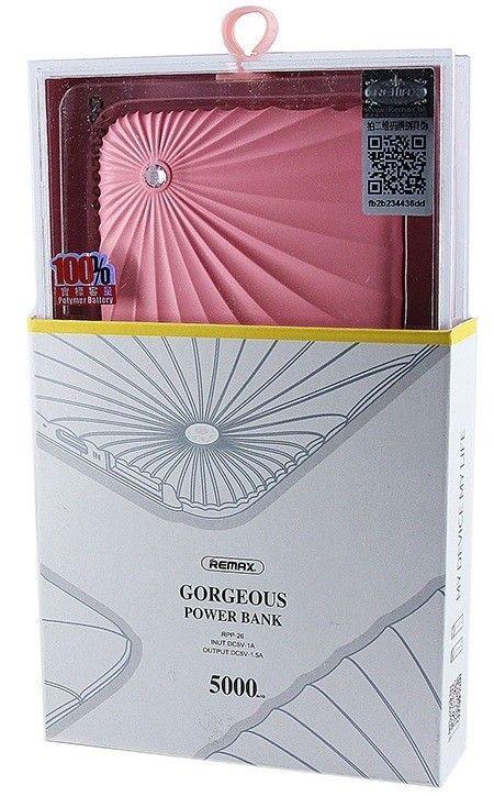 Купить Портативную батарею Remax Power Bank Gorgeous RPP-26 5000 mah Black цены, скидки, распродажи в интернет-магазине fishki.ua
