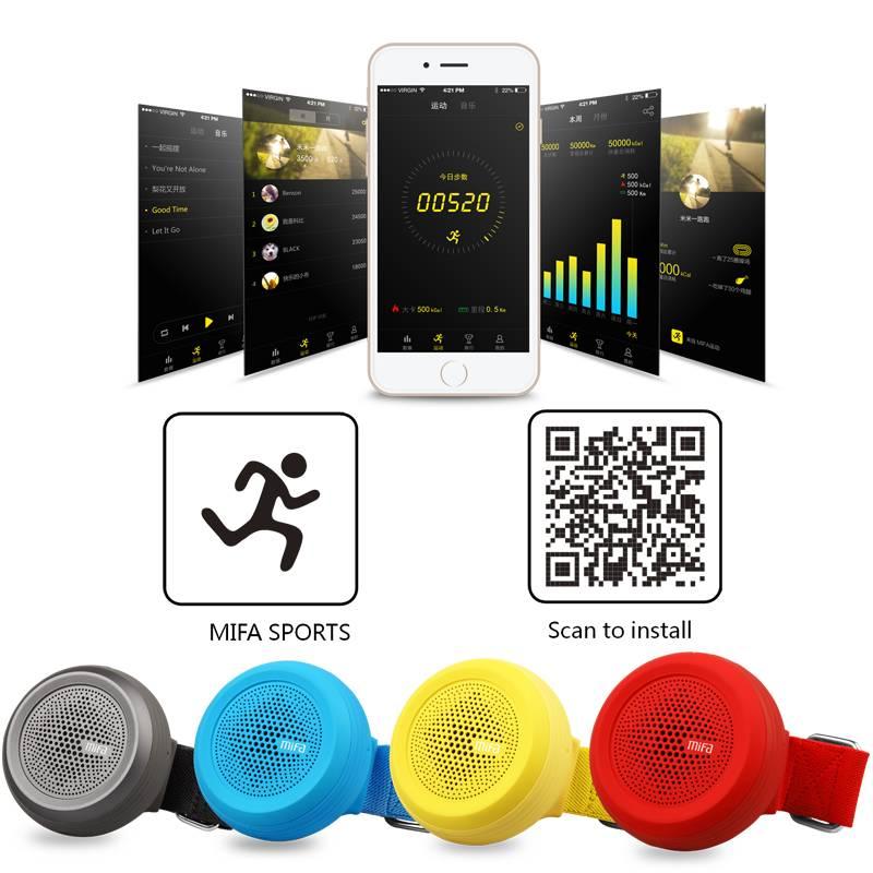 купить портативную акустику Mifa F20 Wearable Bluetooth Speaker red цены, скидки, распродажи в интернет-магазине fishki.ua