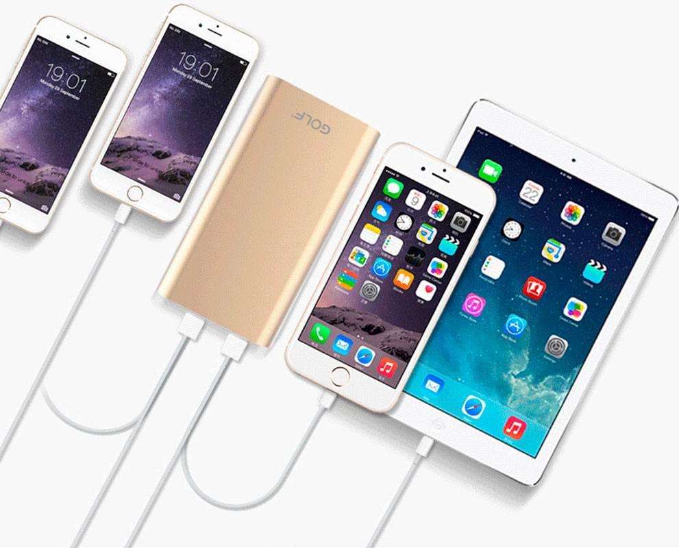 купить портативную батарею GOLF Power Bank 5000 mAh Edge 5 Li-pol silver цены, скидки, распродажи в интернет-магазине fishki.ua