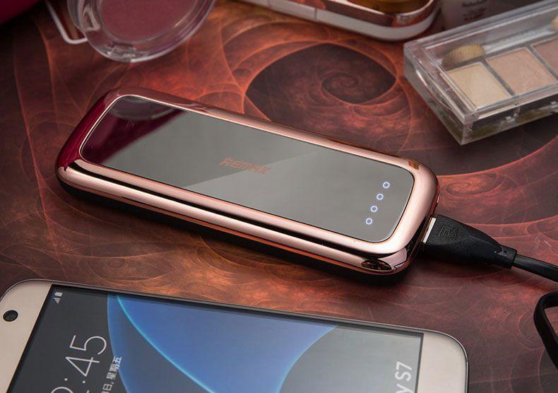 купить портативную батарею Remax Power Bank Mirror 10000 mah black цены, скидки, распродажи в интернет-магазине fishki.ua