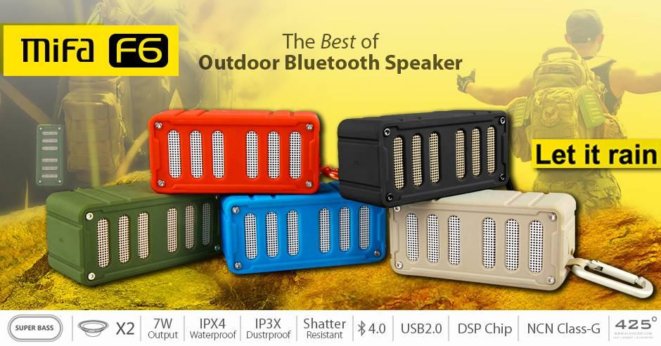купить портативную акустику Mifa F6 Outdoor Bluetooth speaker blue  цены, скидки, распродажи в интернет-магазине fishki.ua