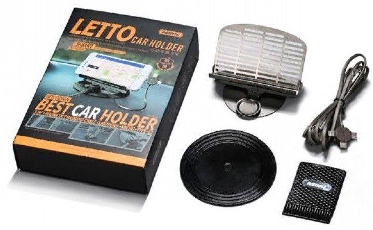 Купить Автодержатель Remax RC-FC2 Letto Car Holder Black цены, скидки, распродажи в интернет-магазине fishki.ua