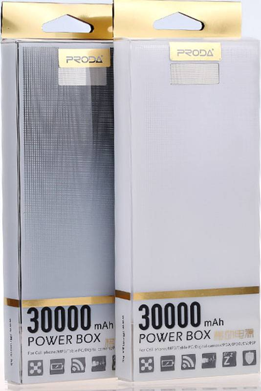 Купити Портативну батаре Remax Power Bank Power Box Series 30000 mAh Black ціни, знижки, розпродажі в інтернет-магазині fishki.ua