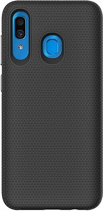 Чехол-накладка TOTO Triangle TPU+PC Case Samsung Galaxy A20/A30 Black - Фото №1