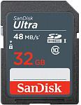 Карта памяти SanDisk SDHC Class 10 UHS-I R48MB/s Ultra 32GB