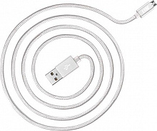 JUST Cooper Micro USB Cable 1,2M Silver
