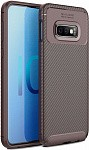 Чехол-накладка Ipaky Carbon Fiber Series/Soft TPU Case Samsung Galaxy S10e Brown