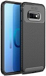 Чехол-накладка Ipaky Carbon Fiber Series/Soft TPU Case Samsung Galaxy S10e Black
