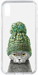 Чехол-накладка TOTO Acrylic+TPU Print Case Apple iPhone XS Max #7 Cat In Hat Transparent