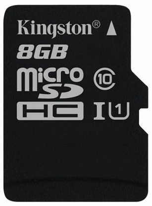 Карта памяти Kingston microSDHC/microSDXC 8Gb Class 10 UHS-I - Фото №1