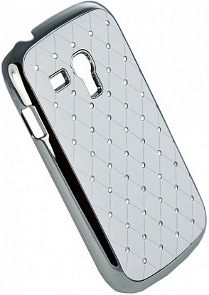 Чехол-накладка Mobiking Diamond Cover для Samsung I8190 Galaxy mini S3 White