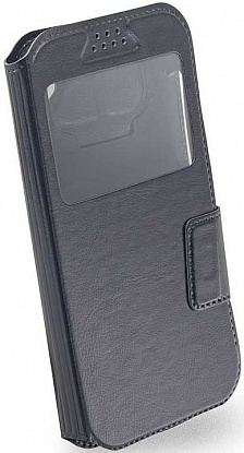 "Чехол-книжка Mobiking Universal Book Cover Soft Touch Slider 4.0"" Black"