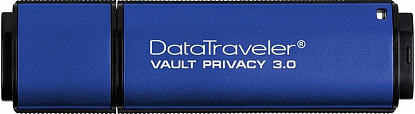 USB Flash Kingston DataTraveler Vault Privacy 8Gb USB 3.0 Blue - Фото №3