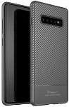 Чехол-накладка Ipaky Carbon Fiber Series/TPU Case With Carbon Fiber Samsung Galaxy S10+ Gray