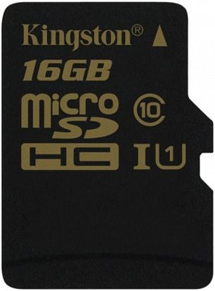 Карта памяти Kingston microSDHC/SDXC 16Gb Class 10 UHS-I