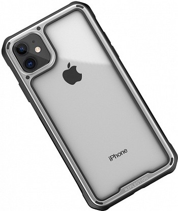 Чехол-накладка Ipaky Mufull Series TPU+PC Case Apple iPhone 11 Silver фото