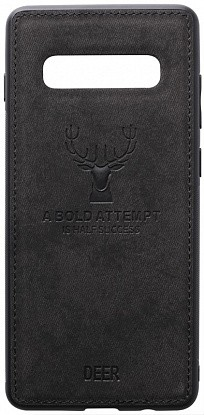 Чехол-накладка TOTO Deer Shell With Leather Effect Case Samsung Galaxy S10 Black
