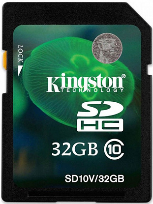 Карта памяти Kingston SDHC 32Gb class 10 Entry Level