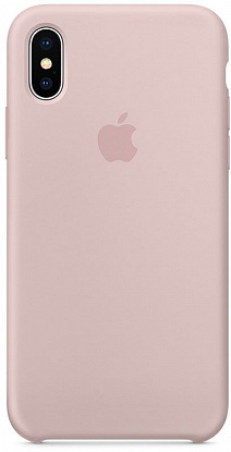Чехол-накладка Apple Silicone Case iPhone X Pink Sand (MQT62ZM/A) - №1