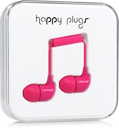 Наушники Happy Plugs In-Ear Cerise - Фото №1