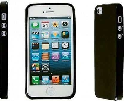 Чехол-накладка Drobak Elastic PU для Apple Iphone 5 Black - Фото №3