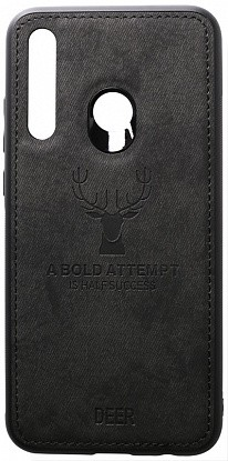 Чехол-накладка TOTO Deer Shell With Leather Effect Case Huawei P Smart+ 2019 Black фото