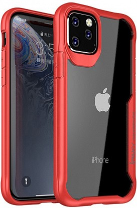 Чехол-накладка Ipaky Survival TPU Frame Injected Anti-Scratch PC Case Apple iPhone 11 Pro Red фото