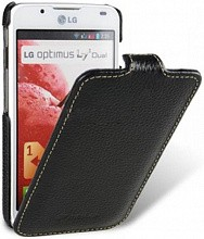 Melkco leather case для LG Optimus L7 II Dual black