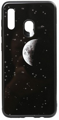 Чехол-накладка TOTO Cartoon Print Glass Case Huawei Y7 2019 Starry Sky