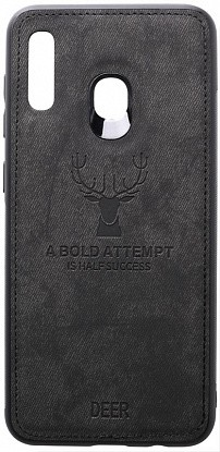 Чехол-накладка TOTO Deer Shell With Leather Effect Case Samsung Galaxy A20/A30 Black