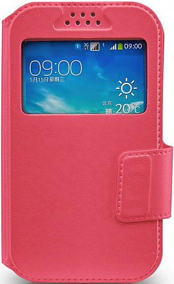 "Чехол-книжка Mobiking book Soft Touch 4,8"" Pink"