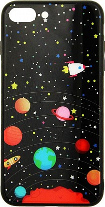 Чехол-накладка TOTO Glass Fashionable Case Apple iPhone 7 Plus/8 Plus Star Space