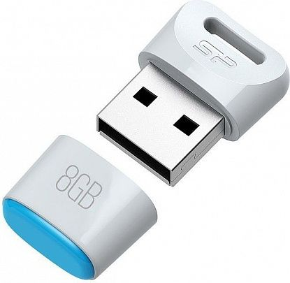 USB Flash Silicon Power Touch T06 8Gb White - Фото №2