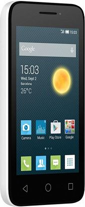Смартфон Alcatel One Touch PIXI 3 4013D White Black Front - Фото №2